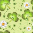 Seamless pattern with clover - Stock Vector
