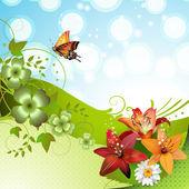 Springtime background — Stock Vector