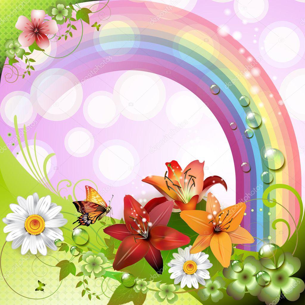 Sfondo primavera vettoriali stock merlinul 8616610 for Sfondi con farfalle