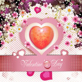 Valentine's day card — Stock Vector