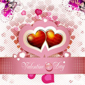 Valentine's day card — Stock vektor