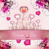 Valentine's day card — Vettoriale Stock