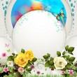 Vector de stock : Background with flowers