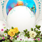 Background with flowers — Stock Vector