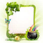 Mirror frame for St. Patrick's Day — Stock Vector