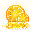 Stock Vector: Slice of orange