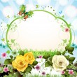 Stock Vector: Springtime background