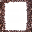 Coffee beans border — Stock Photo