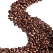 Road of coffee beans - Stock Photo