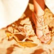 A close up of a bride's wedding shoes — Stock Photo