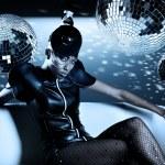 Привлекательные Африканская женщина с диско шары — Стоковое фото #9282966