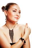 Atrakcyjna kobieta z accessorize — Zdjęcie stockowe