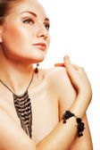 Beautiful attractive woman with accessorize — Stock Photo