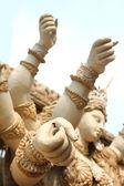 Durga puja sculptures — Stock Photo