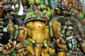 Ganesh wooden statue — Stok fotoğraf