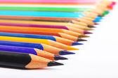 Matita colorata allineato — Foto Stock