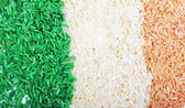 Rice in tricolors — Stock Photo