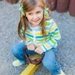 Happy cute child having fun at playground — Stock Photo