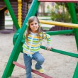 A cute young girl having fun on the playgroung — Stock Photo #10164121