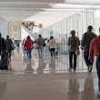 Stock Photo: Airport moving crowd