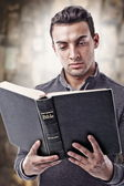 Reading Holy Bible — Stock Photo