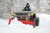 Snow-plow — Stock Photo