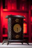 Vintage wooden clock — Stock Photo