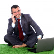 Young business man talking — Stock Photo