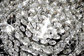 Modern crystal chandelier, closeup — Stock Photo