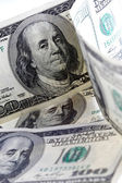 Algunos billetes de cien dólares — Foto de Stock
