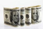 四卷一百美元的钞票 2 — 图库照片