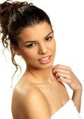 Zmysłowa brunetka młodych stwarzające — Zdjęcie stockowe