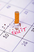 Day when i will quit smoking — Stock Photo