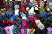 Summer Sales of Hats, shawls and gloves — Stock Photo