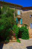 Summer scenery in a little village in the Hérault in the south of France — Stock Photo
