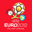 Official logo for UEFA EURO 2012 — Stock Photo