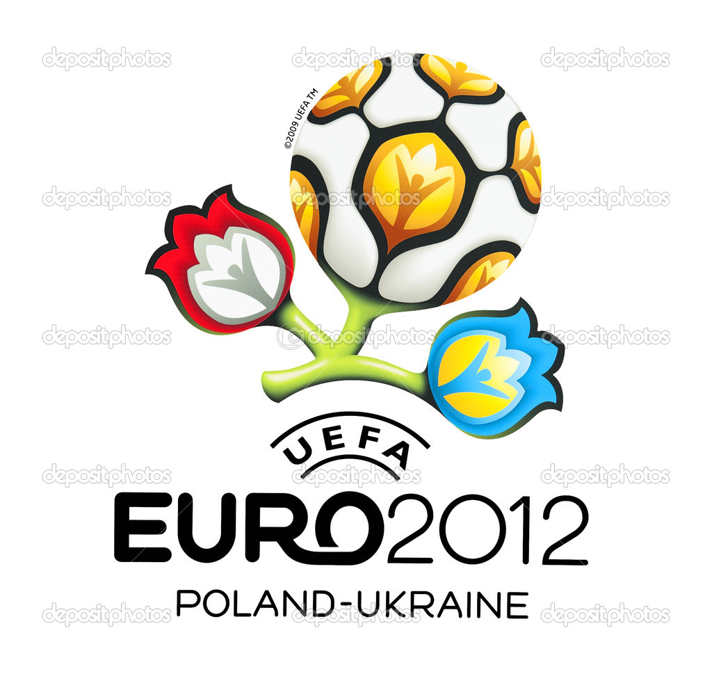 GDANSK, POLAND - MAY 1: Official logo for UEFA EURO 2012, Gdansk, Poland, May 1, 2012 — Stock Photo #10555921