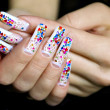 Stock Photo: Nail art design.