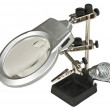 Third hand magnifier — Stock Photo