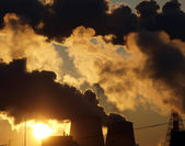 Industry pollution — Stock Photo