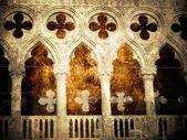 Fragmento de palacio doge — Foto de Stock