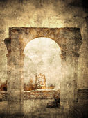 Ancient Roman arch — Stock Photo