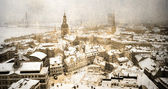 Riga from the top — Stock Photo