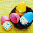 Stock Photo: Cupcakes Hatch from Easter Eggs