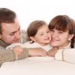 New family with child — Stock Photo