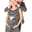 Stock Photo: Newly wife embrace child
