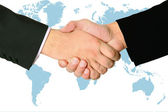 Handshake of two businessmans agreement — Stock Photo