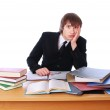 Businessman is owned by documents — Stock Photo