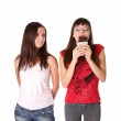 Two girls with chocolate — Stock Photo #9843014