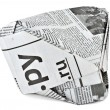 Foto Stock: Headdress from newspaper
